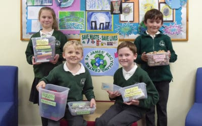 Save Waste, Save Lives says St James' CE VC First School pupils